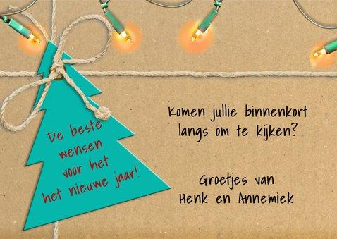 Kerst-verhuiskaart met lampjes en eigen foto  3
