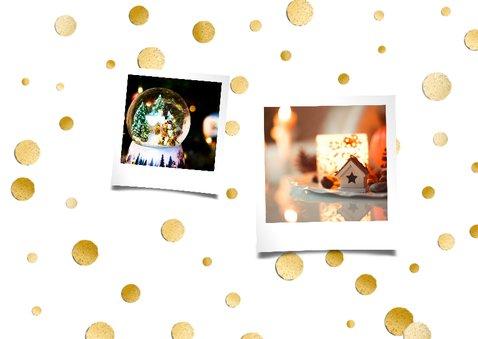 Kerstdiner goud/zwart wit 2