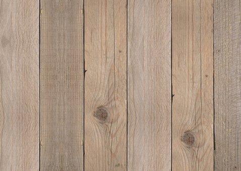 Kerstdiner uitnodiging foto label hout - LB 2