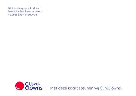 Kerstkaart CliniClowns winter 2