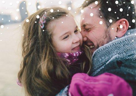 Kerstkaart confetti 'Merry Christmas' met grote foto 2