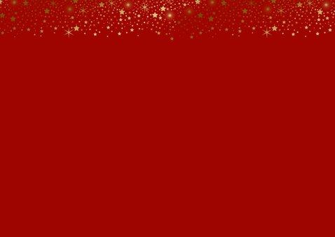 Kerstkaart foto sterren goudlook 2
