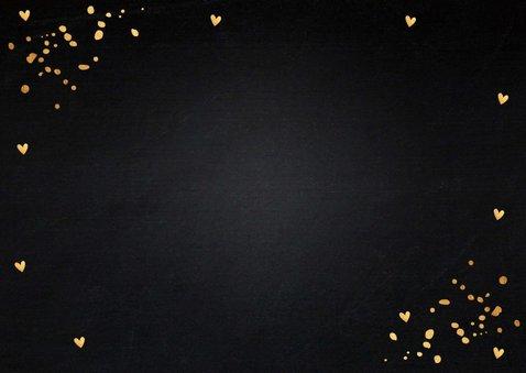 Kerstkaart fotocollage gouden confetti rechthoekig 2