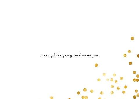 Kerstkaart goud confetti en eigen foto 3