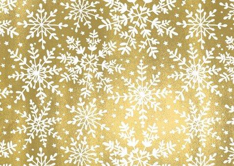 Kerstkaart Goud Sneeuw 2
