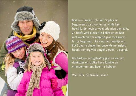 Kerstkaart letters en sneeuw 3
