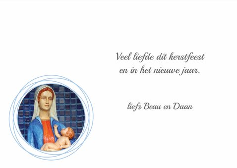 Kerstkaart Maria met Jezus 3