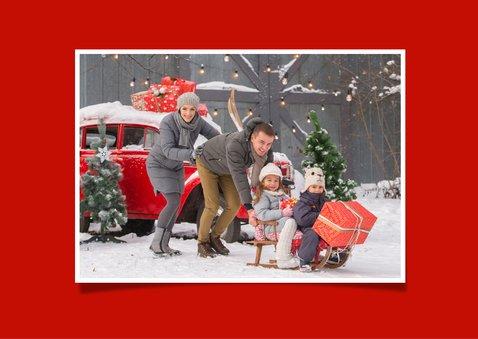 Kerstkaart Merry Christmas rode zwaantjes 2