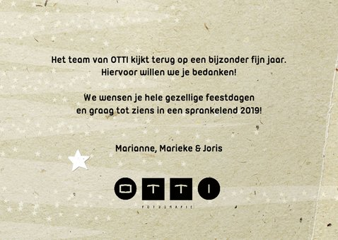 Kerstkaart papers - foto en logo 2019 3