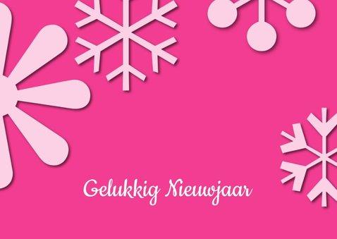 Kerstkaart Schitterende Feestdagen roze 2019 2