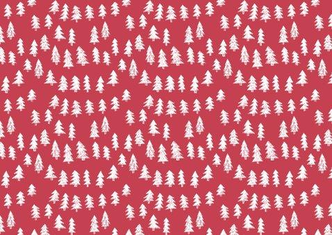 Kerstkaart sneeuw sterren frame rood 2