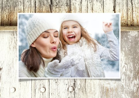 Kerstkaart Steigerhout Merry Christmas 2