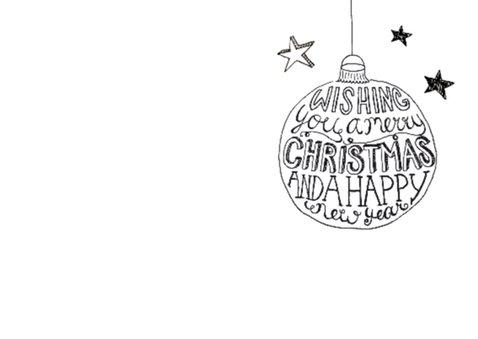 Kerstkaart tekst & foto zwartwit 2
