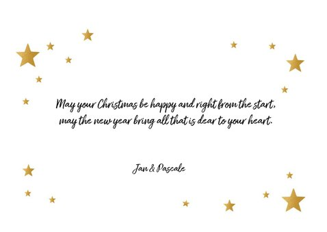 Kerstkaart very merry christmas goudlook 3