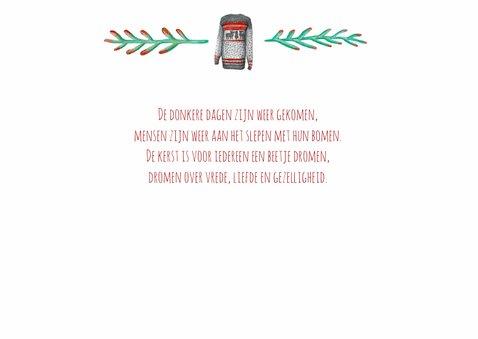 Kerstkaart warm wishes met illustraties 2