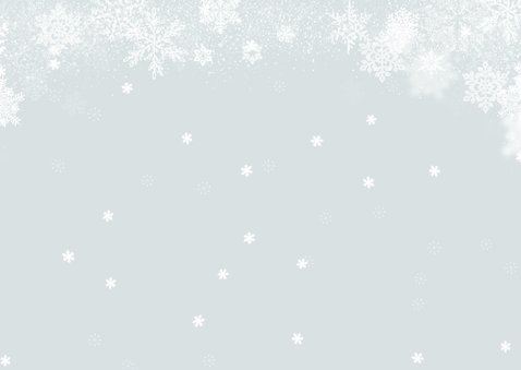 Kerstkaart winter sneeuw foto 2