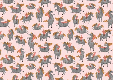 Kinderfeestje unicorn patroon 2