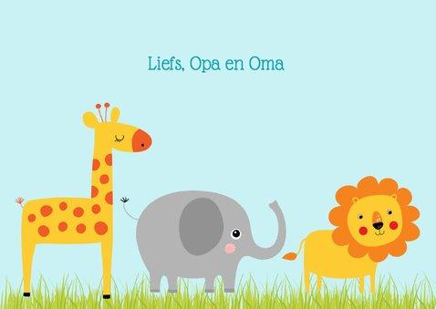 Kinderkaart dieren 3