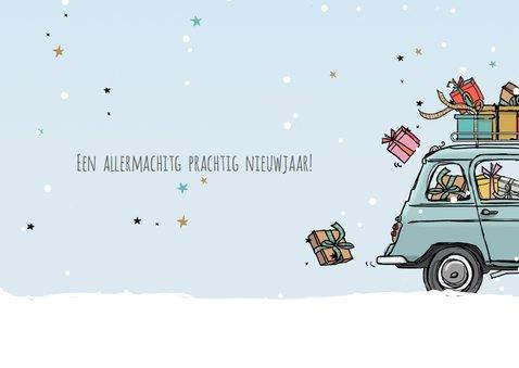Nieuwjaarskaart Renault vier blauw 3