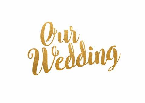 Our wedding goud - BK 2