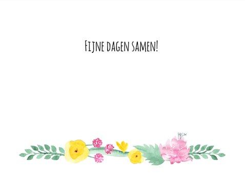 Paaskaart pastelbloemen 3
