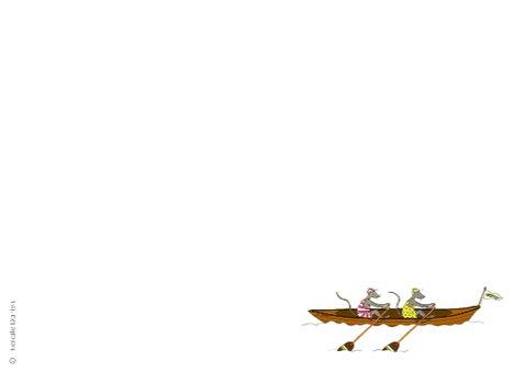 Roeiboot met twee muizen 3