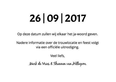 Save our date grafisch 3