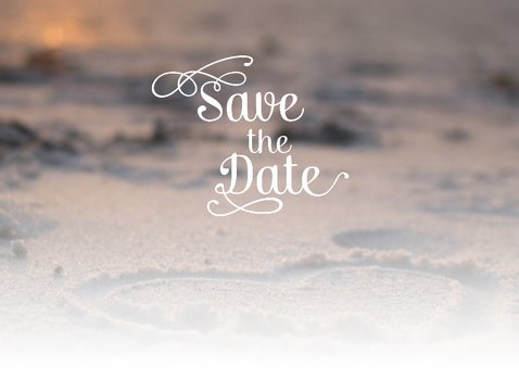 Save the date strand met hart 2