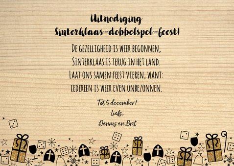 Sinterklaas feestelijke uitnodiging dobbelspel 3