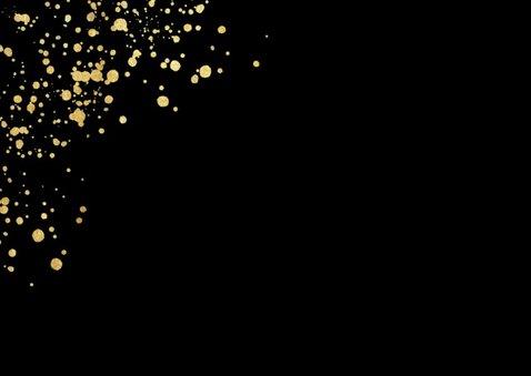 Stijlvolle zakelijke kerstkaart met gouden spetters 2