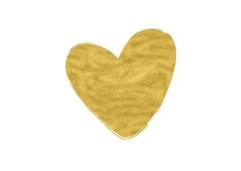 Trouw bedankkaart hart goud - OT 2