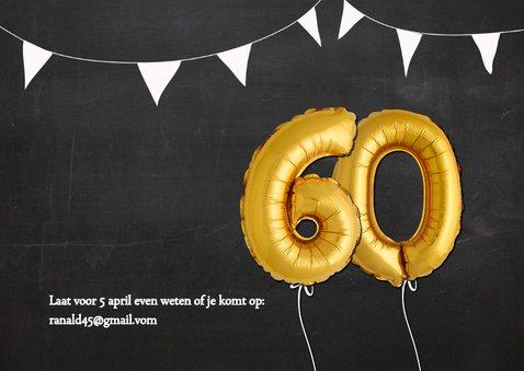 Uitnodiging 60 jaar Ballon goud 2