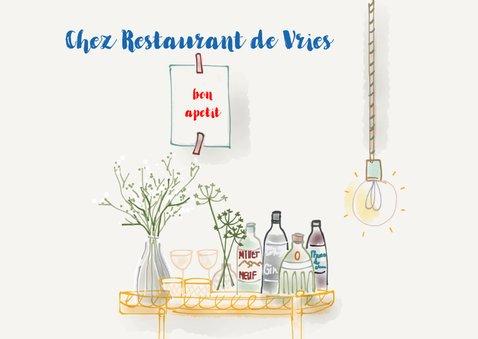 Uitnodiging etentje Chez Restaurant II 2