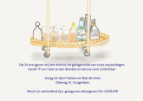 Uitnodiging etentje Chez Restaurant II 3