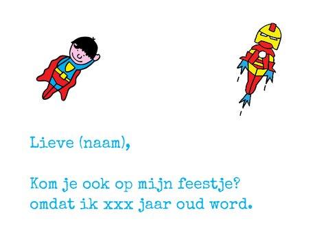 uitnodiging feest superhelden 2