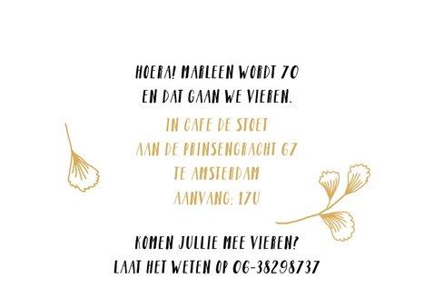 Uitnodiging fotokaart verjaardag vrouw leeftijd 3