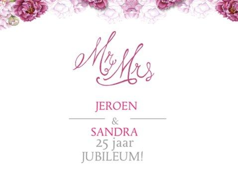 Uitnodiging jubileum roze rozen 2