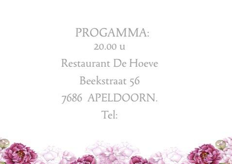 Uitnodiging jubileum roze rozen 3