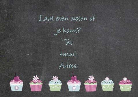 uitnodiging kinderfeest cupcakes 3