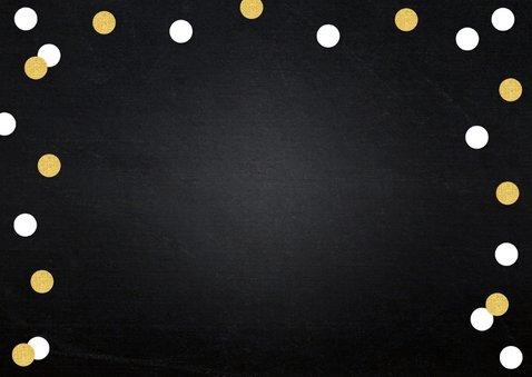 Uitnodiging opening confetti goud 2