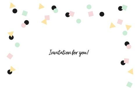 Uitnodiging verjaardag hip feestelijk eenvoudig 2