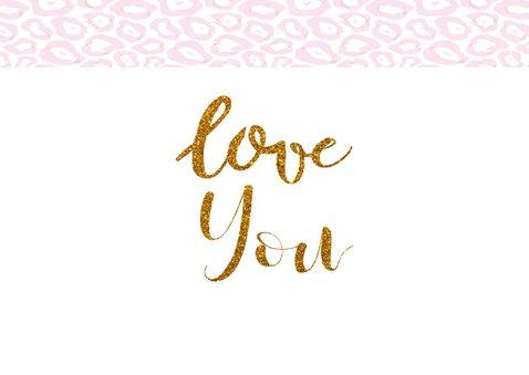 Valentijn dierenprint love you 2