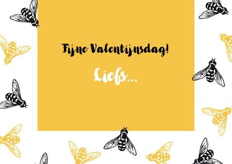 Valentijnskaart bijtjes - Bee my Valentine 3