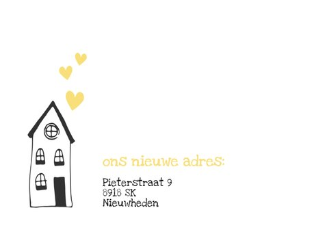 Verhuiskaart getekende huisjes - SV 2