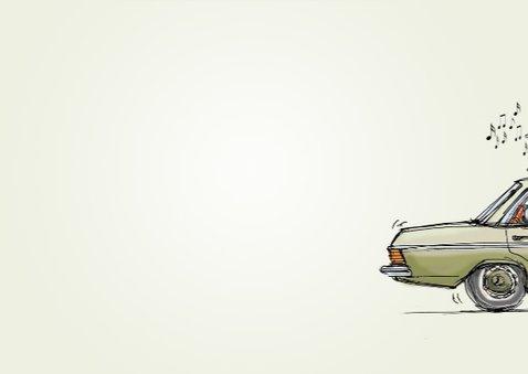 verhuiskaart Mercedes auto  3