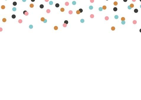 Verjaardag confetti kalligrafie 2