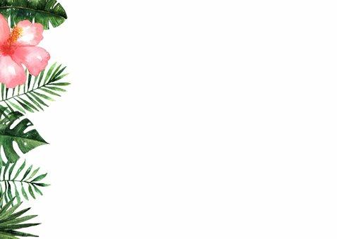 Verjaardagskaart Tropical - WW 2