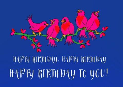 Verjaardagskaart vogeltakkie 2
