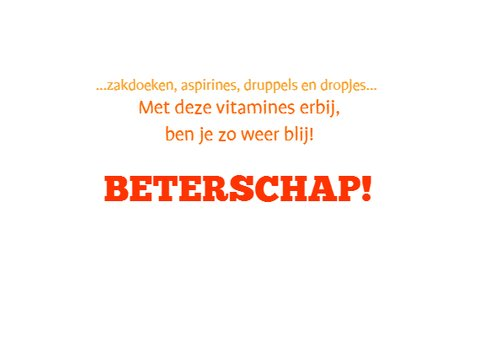 Vrolijke Beterschap Vitamines 3