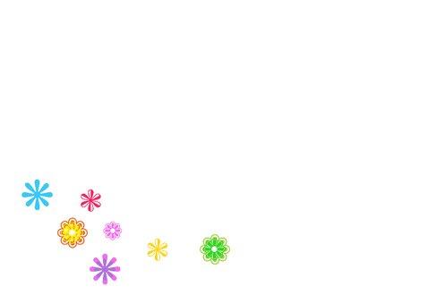 VW bus kaart bloemen Anet Illustratie 3
